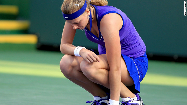 After injury and illness forced her out of tournaments in Qatar and Dubai, Kvitova was beaten by American teenager Christina McHale in the third round at California's Indian Wells event in March.