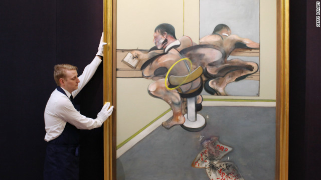 Francis Bacon's &quot;Figure Writing Reflected in Mirror&quot; is on view as part of the same exhibition. Sotheby's experts say it is likely to sell for in excess of $30 million.