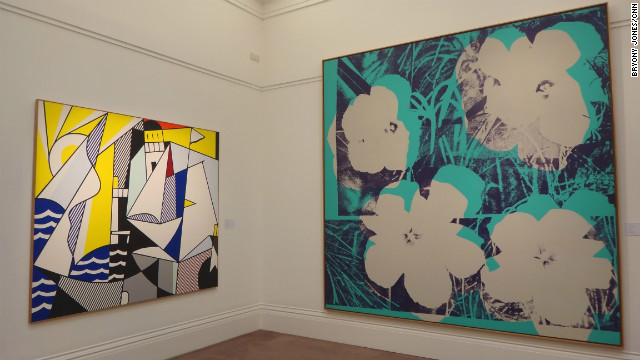 Andy Warhol's &quot;Ten-foot Flowers&quot; and &quot;Sailboats III&quot;, another work by Lichtenstein, will also be up for auction at the same sale in New York on May 9.