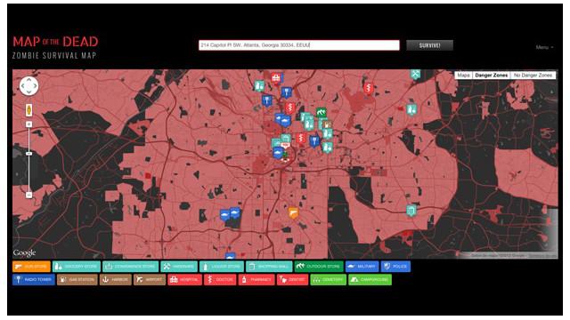 Cómo sobrevivir al apocalipsis zombie con Map of the Dead