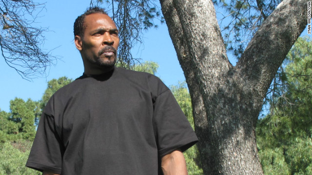 Rodney King stands near the site of his 1991 beating by police officers in Lake View Terrace, California, in this 2011 photo.
