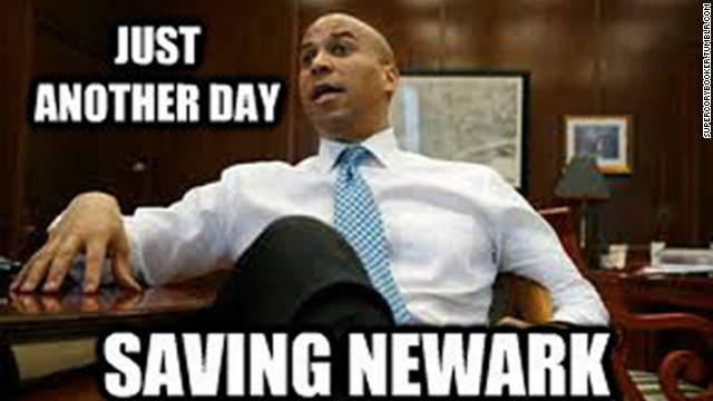 A new Tumblr blog, SuperCoryBooker is actively creating memes about the mayor.