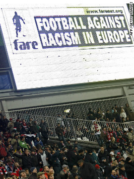 UEFA has worked closely with the group Football Against Racism in Europe since 2001. FARE members will be patrolling matches at the Euro 2012 finals looking for evidence of racist behavior.