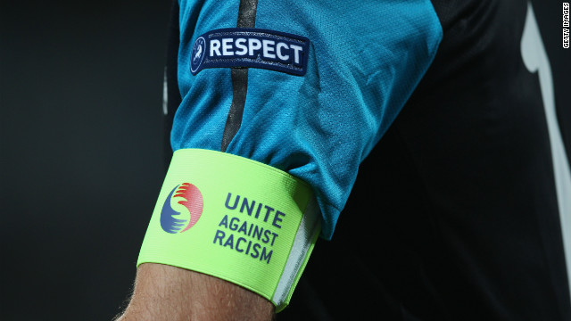 European football's ruling body UEFA has run a &quot;Unite Against Racism&quot; campaign in recent years. 