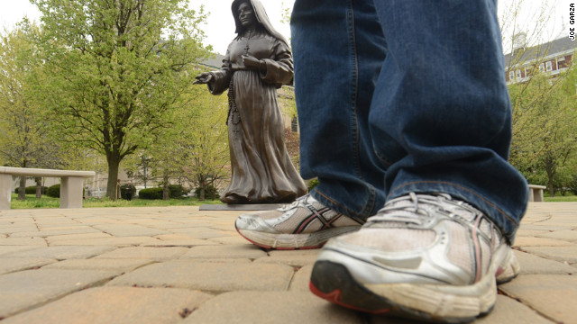 Unlikely spiritual pilgrim walks 70 miles from frat house to shrine