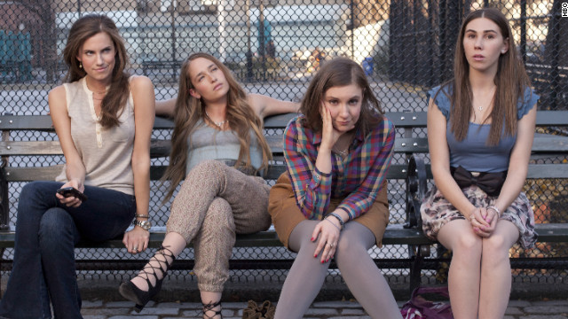 From left to right: Allison Williams, Jemima Kirke, Lena Dunham and Zosia Mamet star in HBO's