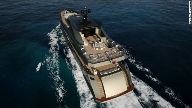With a cruising range of 5000 nautical miles, the vessel can easily make the journey between glamorous ports in Monaco and Miami.