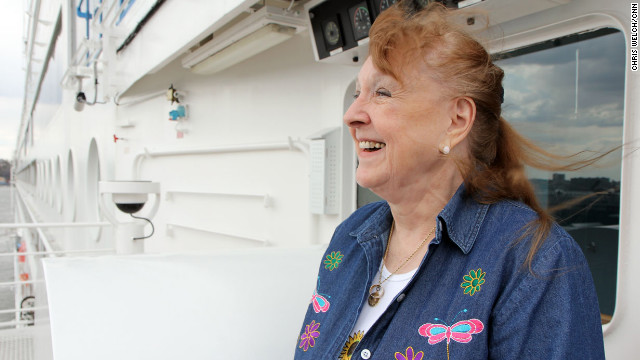 Sharon Willing's great-grandparents were passengers on the Titanic. Her great-grandfather, Herbert Chaffee, perished in the disaster. Her great-grandmother made it out on lifeboat four. Willing has waited her whole life to make this trip to pay tribute to her great-grandfather.