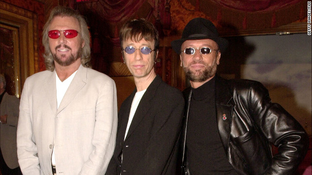 Barry, Robin and Maurice pose at a New York press conference in 2001 announcing the release of the Bee Gees album &quot;This is Where I Came In.&quot;