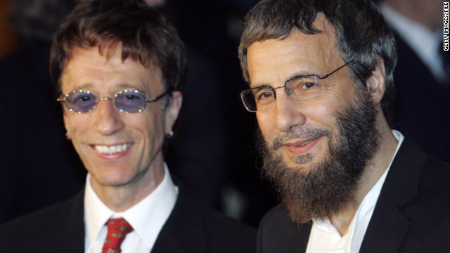 Yusuf Islam (formerly Cat Stevens) and Robin Gibb arrive at the &quot;Adopt-A-Minefield&quot; benefit gala in support of landmine victims in 2005 in Neuss, Germany.