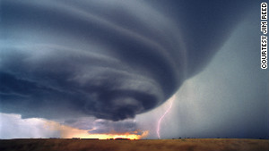 View of a professional storm chaser