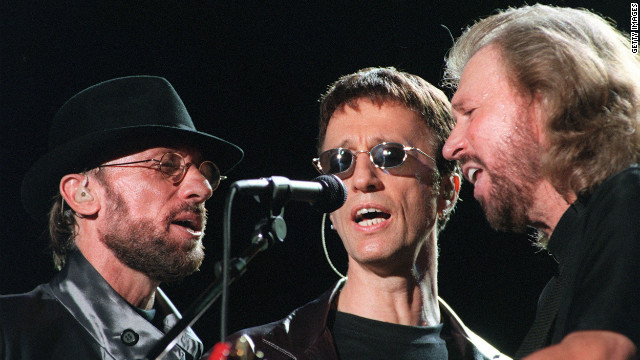 The Bee Gees perform during the &quot;One Night Only&quot; concert at Stadium Australia in Sydney, Australia, in March, 1999.