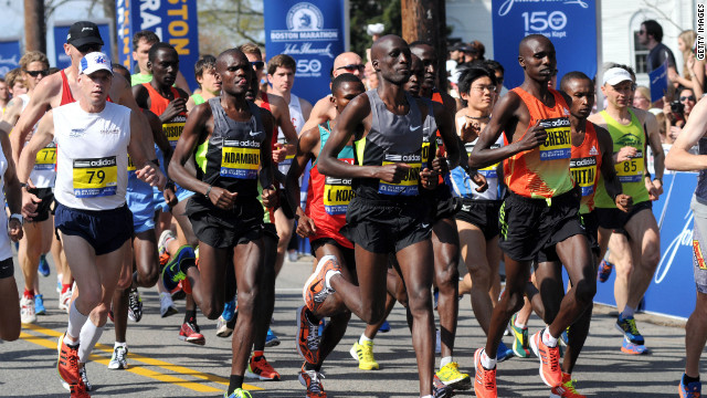 Kenyan men & women win, place, show at unseasonable Boston Marathon