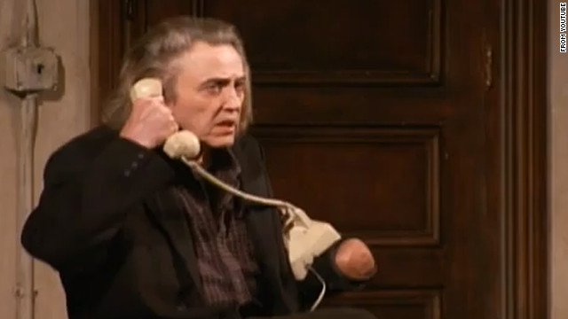 "Christopher Walken played Carmichael, a man searching for his missing left hand, in Broadway's ""Behanding In Spokane"" in 2010."