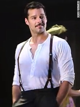 Ricky Martin plays Che in the 2012 Broadway revival of &quot;Evita.&quot;