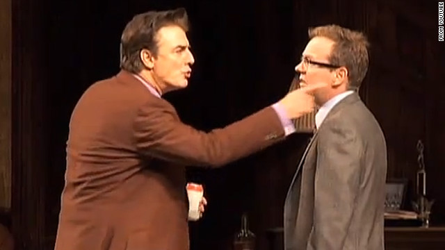 "Chris Noth and Kiefer Sutherland starred in Jason Miller's 1972 play, ""That Championship Season,"" in 2011."