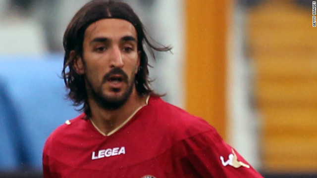 One of the last photos taken of Morosini before his collapse on the pitch during an Italian second division match against Pescara on Saturday.