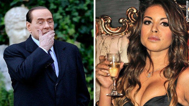 Dancer Karima el Mahroug (right) said that she never had sex with former Italian Prime Minister Silvio Berlusconi.