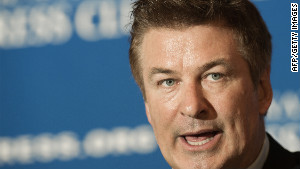 Actor Alec Baldwin, spokesman for Americans for the Arts, delivers remarks Monday at the National Press Club.