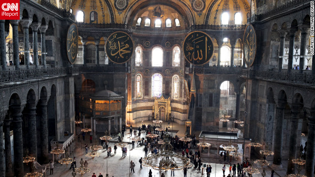 Sebastian George shared this entrancing image of the Hagia Sophia's interior.