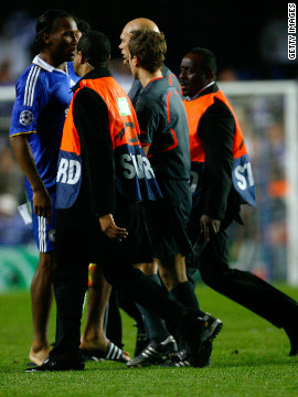 Didier Drogba's outburst at the ref during the second leg of that 2009 semifinal landed the Chelsea striker a three-game European ban.