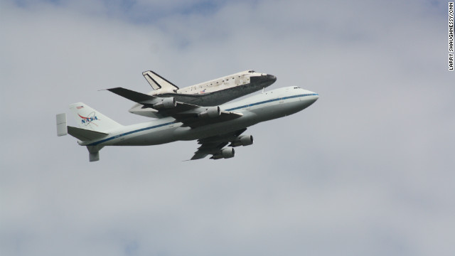 Shuttle adds less weight to a 747 than a plane load of passengers