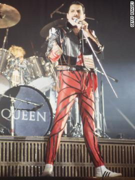 Queen frontman Freddie Mercury died in 1991. He was 45.