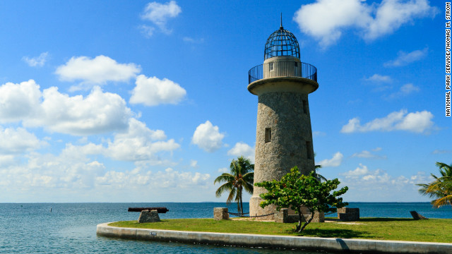 Built by Mark Honeywell in the 1930s, the Boca Chita Lighthouse symbolizes Biscayne National Park. The lighthouse is open intermittently, and the deck provides a fantastic view of the ocean.