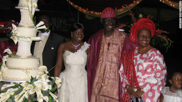 "Outside of the bridal party, wedding guests often dress in traditional attire. ""Aso-ebi"" is a Yoruba phrase referring to the clothes of the same fabric worn by the newlyweds' family and friends."