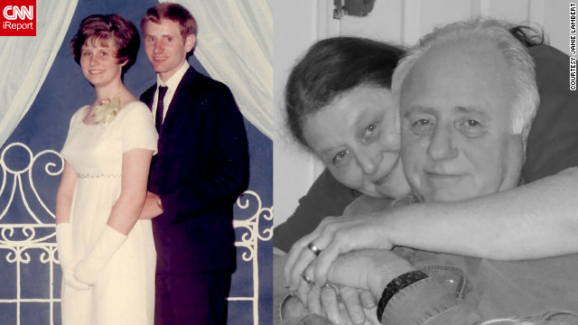 Janie Lambert met her husband-to-be in 1966. They went to his senior prom together, left, in 1968 and married in 1970. &quot;Here is to 40 more years!&quot; she said. &quot;Sometimes puppy love is the real thing.&quot;