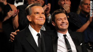 Ryan Seacrest, right, has acknowledged modeling his career on Clark\'s.