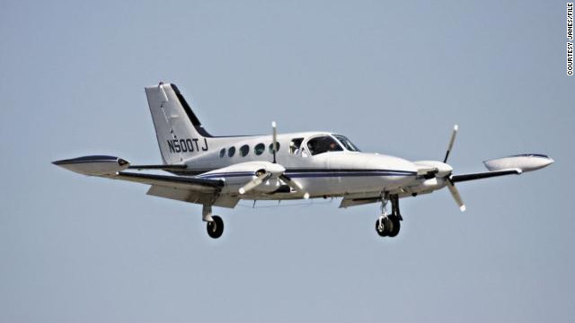 A Cessna 421, similar to the one pictured, reportedly circled the Gulf of Mexico for hours before crashing.