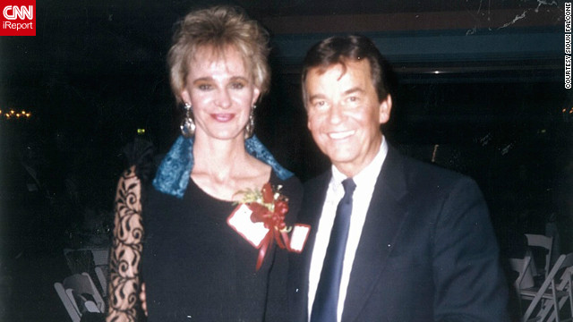 Sioux Falcone, who worked with Clark in Los Angeles, posed with him at a 1980s holiday party. &quot;I pulled out the photo yesterday and here he is, wearing his name,&quot; Falcone said. &quot;I thought it was really endearing, and everyone had a name tag on, so I am sure he thought that he needed to do it, too.&quot;
