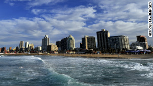 Durban seen from the ocean.
