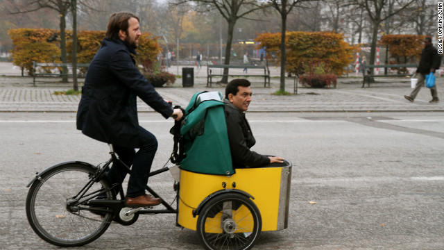 Redzepi's reverent attitude to nature does not just end in the kitchen. The Nordic masterchef is a keen cyclist, and opted to ferry Kapoor back to his restaurant in true Copenhagen style.