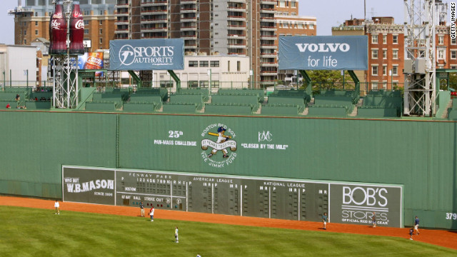 "Fenway Park's ""Green Monster."""