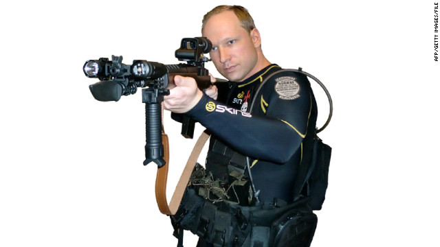 Anders Behring Breivik is on trial for killing 77 people in Norway in a bomb and gun rampage last summer.
