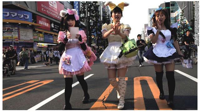 """Japón y sus cafés de sirvientas """"cute"""""""