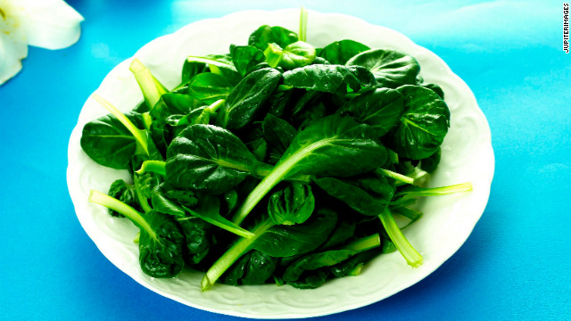 Spinach is a great source of iron, which is a key component in red blood cells that fuel our muscles with oxygen for energy.