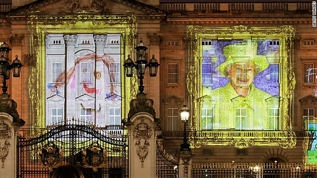 El Palacio de Buckingham se transforma en un lienzo