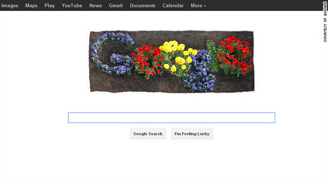The search engine marked Earth Day with a time-lapse animation of flowers bursting into color.