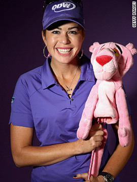 "Creamer's fondness for her favorite color has earned her the moniker of ""The Pink Panther."""