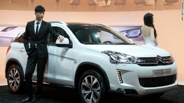 A Citroen C4 Aircross car is displayed at the Auto China 2012 car show in Beijing.