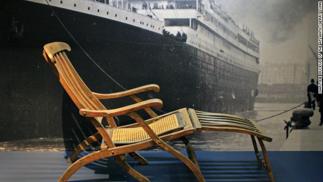 A rare original deck chair from the Titanic is a signature artifact of the permanent Titanic exhibit at the Maritime Museum of the Atlantic in Halifax, Nova Scotia.