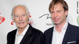 Giles Martin, right, has followed in the footsteps of his father Sir George, left, the Beatles\' producer.
