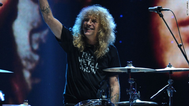 Steven Adler, shown here performing during the 27th Annual Rock And Roll Hall Of Fame Induction Ceremony on April 14, 2012.