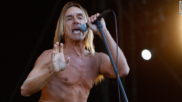 Iggy Pop, shown here performing during the Isle of Wight Festival in 2011.