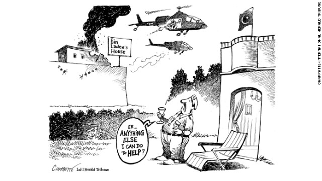 """""""Osama bin Laden living in the back yard of the Pakistani army: That was a big joke in itself! I'm trying to illustrate this simple fact, the joke is provided by the reality of the situation."""""""