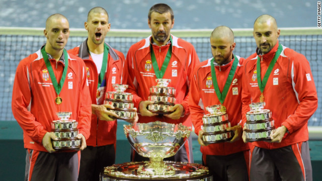 The Serbian women's team will be hoping to follow in the footsteps of their male compatriots, who reached the Davis Cup final for the first time in 2010 and won the title after defeating France 3-2.