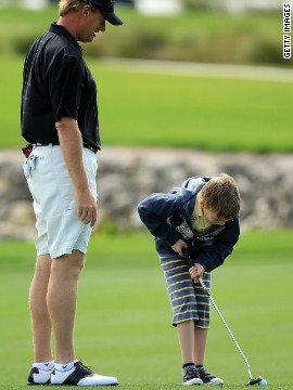 Ben, seen here at another fundraising tournament in 2010, was diagnosed with autism when he was four years old.